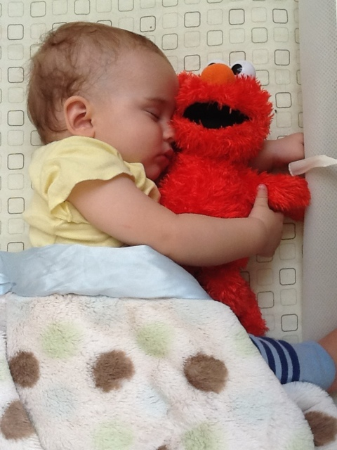 The Bean and Elmo, in simpler times.